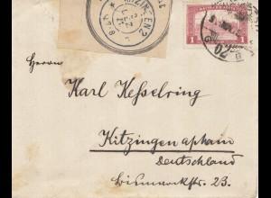 Ungarn: 1921: Brief nach Kitzingen, Postamt Öffnung