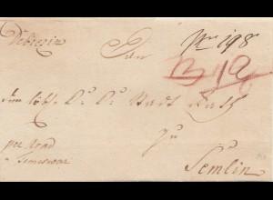Ungarn: 1800: Debrezin(Debrecin,Debrecen) nach Semlin