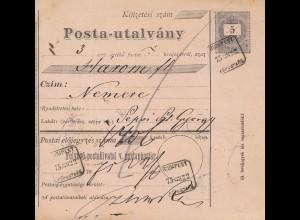 Ungarn: 1922: Paketkarte