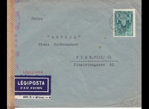 Ungarn: 1943: Lufpost nach Wien, OKW Zensur