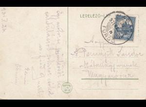 Ungarn: 1924: Ansichtskarte Paradfürdö