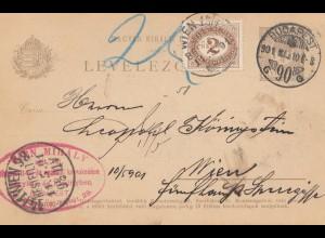 Ungarn: 1901: Ganzsache Budapest nach Wien
