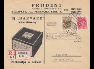 Ungarn: 1940: Budapest als Einschreiben