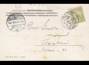 Ungarn: 1904: AK Schlittschuhlaufen Kolozsvar