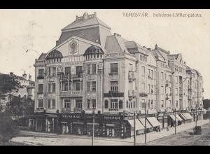 Ungarn: 1915: AK Temesvar nach Belgien