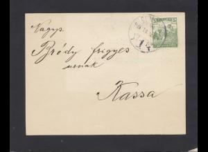 Ungarn: 1919: Trauerbrief nach Kassa