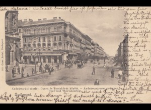 Ungarn: 1902: AK Budapest Oper