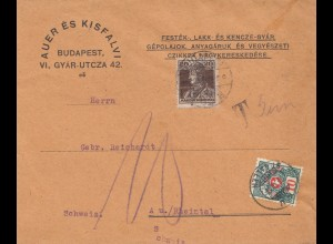 Ungarn: Budapest nach Rheintal, Nachgebühr
