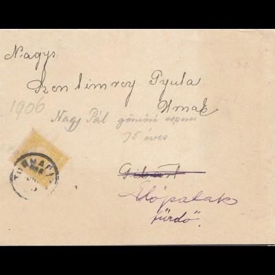 Ungarn: 1906: Trauer-Brief