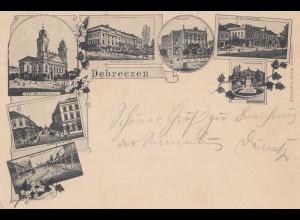 Ungarn: 1897: Ansichtskarte Debreczen