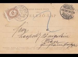 Ungarn: 1900: Ganzsache Budapest nach Wien