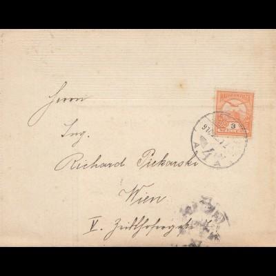 Ungarn: 1910 Trauerbrief nach Wien