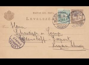 Ungarn: 1898: Soproh nach Luzern