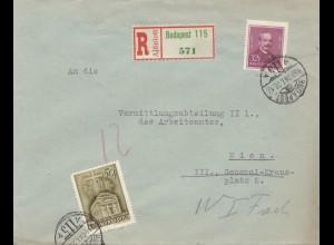 1939: Einschreiben Budapest nach Wien