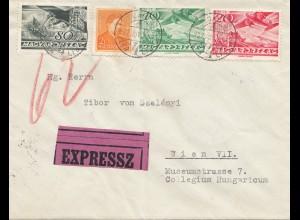 Ungarn: 1937: Eilboten Budapest nach Wien