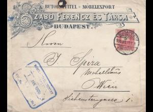 Ungarn: 1900: Budapest nach Wien, Möbel