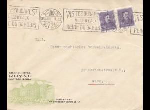 Ungarn: 1934: Budapest mit Werbestempel nach Wien