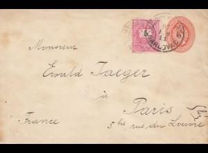Ungarn: 1897: Ganzsache nach Paris