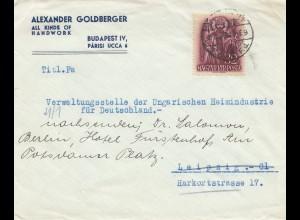 Ungarn: 1938: Budapest nach Leipig
