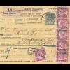 Ungarn: 1916: Paketkarte Szarvas and KuK Inf.-Verpflegungskolonne