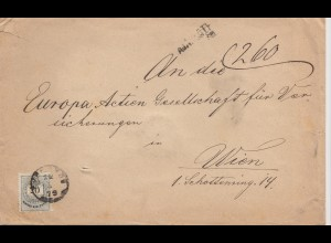 Ungarn: 1879: Brief nach Wien