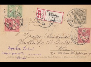 Ungarn: 1902: Einschreiben Sarvar nach Wien