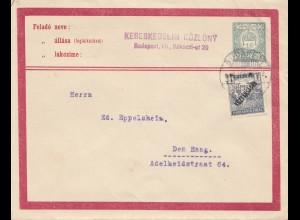 Ungarn: Brief Budapest nach Den Haag