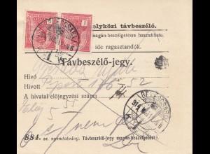 Ungarn: 1914: Tavbeszelö-jegy