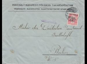 Ungarn: 1915: Budapest nach Berlin, Zensur