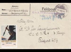 Ungarn: 1917: Feldpost; Vignette: Gott strafe England