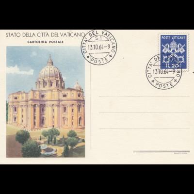 Vatikan: 1964: Ganzsache