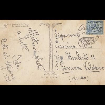 Vatikan: 1931: Ansichtskarte