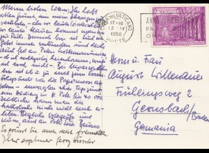 Vatikan: 1950: Ansichtskarte