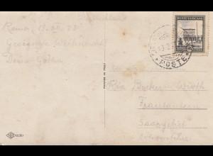 Vatikan: 1933: Ansichtskarte ins Saargebiet