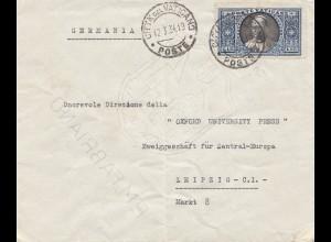Vatikan: 1934: Brief nach Leizpig