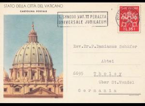 Vatikan: 1966: Ganzsache nach Tholey