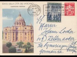 Vatikan: 1950: Ganzache nach Keltenacker