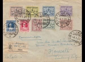 Vatikan: 1939: Einschreiben nach Belgien