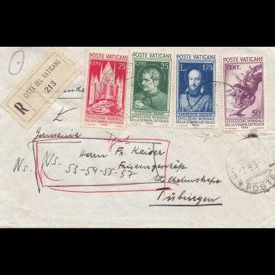 Vatikan: 1937: Einschreiben nach Tübingen