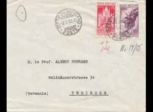 Vatikan: 1937: Brief nach Tübingen