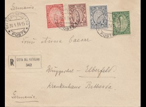 Vatikan: 1934: Einschreiben nach Elberfeld
