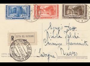 Vatikan: 1938: Ansichtskarte als Einschreiben