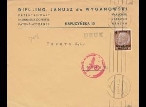 GG Drucksache 1940 ins Ausland mit Zensurstempel
