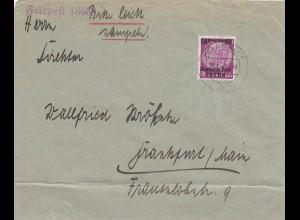 GG: Feldpost 18668 nach Frankfurt, portogerecht 2. Gew. Stufe bis 31.03.40
