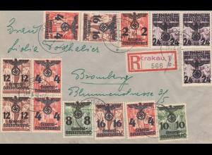 GG: Einschreiben Krakau 1 nach Bromberg