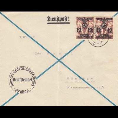 GG: Brief MeF, großer Abstand von Krakau nach München