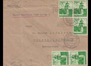 GG: portogerechte MeF Postagentur nach Stockholm, Zensur