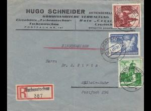 GG: portogerechte MiF als Einschreiben Tschenstochau nach Mühlheim
