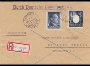 GG: MiF Einschreiben Warschau nach Dresden, portogerecht