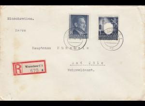 GG: MiF portogerecht als Einschreiben Warschau nach Bad Tölz